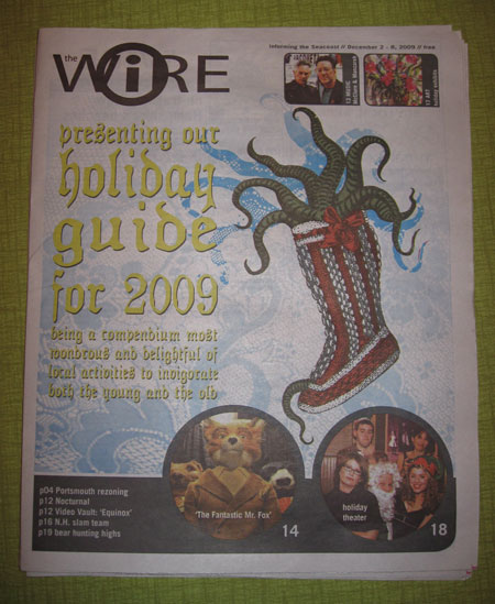 Jess's artwork on the front page of the Wire!