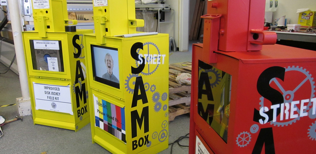 Bangor-area artists transform old newspaper vending machines into art installations — Living — Bangor Daily News — BDN Maine